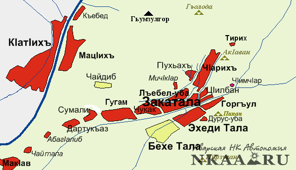 Formation of the town Zakatala